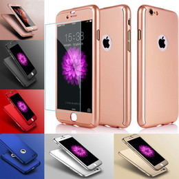 For Apple iPhone X 8 7 6S Plus Ultra Thin Case Luxury Slim 360 Degree Full Body Protection Cases PC Back Cover For Samsung Galaxy S8 Note8