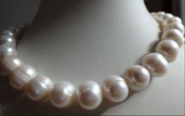 """very Fashion 14-15mm south sea white baroque pearls necklace 18"""""""