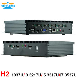 Industrial Mini PC Intel C1037U I5 3317U WIFI Computer with DHMI VGA 6 RS232 Ports Free Shipping Partaker H2