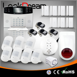 Update Wireless House Alarms Electronic Home GSM Anti Burglar Security Residential Alert System Low Consume Power By DHL