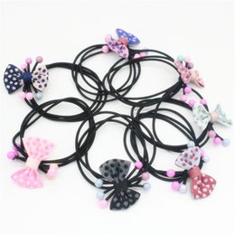 Jmyy Jewelry New Cute Children Bowknot Multicolor Silk Hair Rubber Bands Elastic Hair Jewelry Kids Hair Accessories