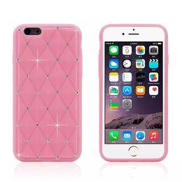 Para el iPhone de Apple 6 6g 6S 4.7 pulgadas de diamante de diamante Bling strass silicona piel suave cubierta de la caja desde iphone bling la rosa proveedores