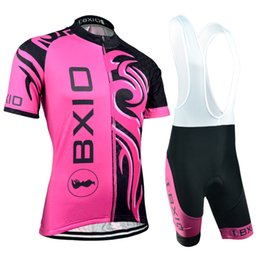 BXIO Brand Women Cycling Jerseys Short Sleeve Bikes Clothes Sets Red And Black Cycling Clothing Quick Dry Bicycle Clothes BX-045