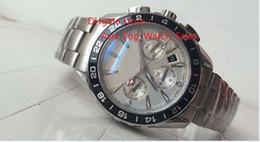 Descuento esfera blanca para hombre de los relojes automáticos Fábrica de venta directa de alta calidad reloj de marca de lujo 007 231.10.44.52.04.001 GMT automático Dial blanco 42 mm de acero inoxidable Mens relojes