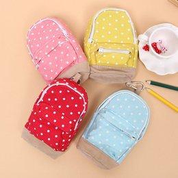 Compra Online Niños mini lápiz-Venta al por mayor - 1 PC de la manera de la mini caja del lápiz de los efectos de escritorio puntea la bolsa de la cremallera del bolso del lápiz la escuela embroma los casos de lápiz