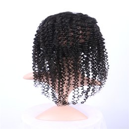 Resika Hot Selling Unprocessed Remy Human Hair Curly Closure 360 Frontal Human Hair Pre Plucked 22*4*2 Natural Color 8-20 inch