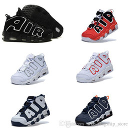 Wholesale 2017 AIR More Uptempo Scottie Pippen Basketball Shoes For Lover Fashion Best Price black white Top Quality Athletic Sport Sneakers Eur