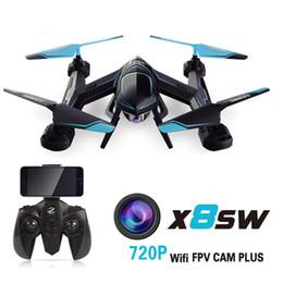 Promotion vidéo rc 2017 nouvelle caméra X8SW Drones 720P FPV RC Quadcopter hélicoptère 2.4G 4CH 6-Axis RC hélicoptères Drones