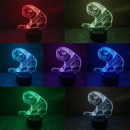 Promotion animation de lumière de nuit Chic 3D Led stéréoscopique Vision Illusion Lampes Kids Animation préférée Livre de caractère Lampe Art Display Hall Atmosphère Décor Night Light