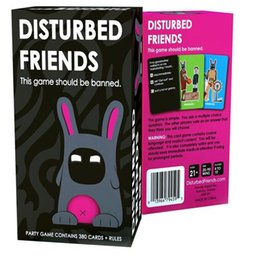 Wholesale Board Games Adult Game Disturbed Friends Funny This Game Playing Card Should Be Banned Amusement Toys kids Gift Friends Party Board Game DHL