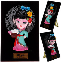 Type four beauty China cartoon Figurine features small gifts opera creative gift doll ornaments