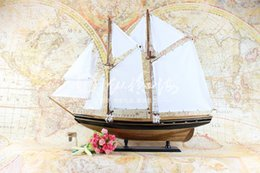 Fashionable Atmosphere, Black And White, Blue Nose, Sailing Model, Craft Gift Boat, Home Decoration Gift Collection boutique