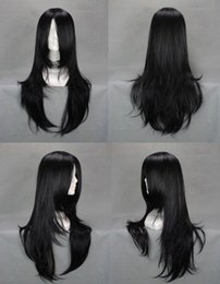 High Quality Fashion Picture full lace wigs >2016 Fashion New Women's Black Cosplay Straight Hair Full Natural Wigs