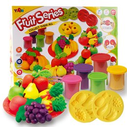 Wholesale Children s educational toys children play dough fruit super soft clay mould and equipment tools A
