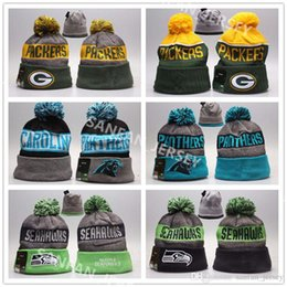 Wholesale Cashmere Hat Sale Women - Hot Sale Green Bays Winter Packers Football Beanies Panthers Blue Bengals Seahawks Chargers Sports Beanies On Field Wool Outside Warm Beanie