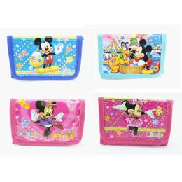 Mickey purse à vendre-Wholesale- New 2016 Fashion Cartoon Minnie Mickey Coin Purse Enfants Zip Change Money Portefeuille Sac à main Kids Girl Women Pouch Bolsa