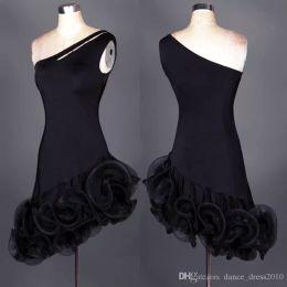 A031 New Adult Latin Dance Dress Salsa Tang Cha cha Ballroom Competition Group Dance Dress 2Color S-XXL Customizable