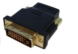 2017 xbox dual DVI-D Doble enlace macho 24 + 1 pin a HDMI Female 19 pines Adaptador HDMI a DVI Gold Conector para HDTV PC LCD para XBOX 360 para PS3 xbox dual outlet
