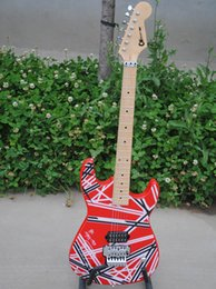 free shipping Personal Tailor red colorful line Electric guitar Rosewood white Fingerboard Can send pictures customization