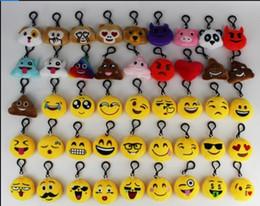 New 55 Styles Emoji toys for Kids Emoji Keychains Mixed Emoji Keyrings Bag pendant 5.5*2.5cm Free shipping