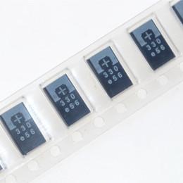 Al por mayor de la ingeniería en Línea-Condensadores al por mayor del polímero del tantalio de 10pcs SMD 2R5TPE330M9 2.5V 330UF POSCAP, ingeniería del capacitance del polímero de