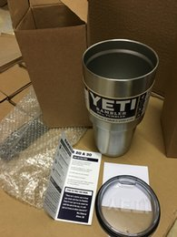 Wholesale 2016Coloful yeti cup Powder Coated oz Yeti Rambler YETI Coolers Rambler Tumbler Stainless Steel Double Walled Travel Mug YETI cup