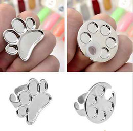 Wholesale x Mini Nail Art Finger Ring Palette Manicure Mixing Acrylic Paint Thumb Ring UK