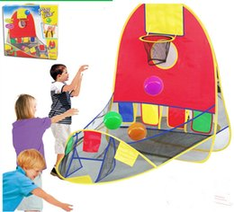 Wholesale Free Ship Ball Scoring Tent Children Play Tent Play House Basketball Basket Beach Lawn Tent Ball Pool Outdoor Sport Best Kid Toy