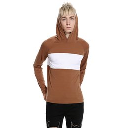 Free Shipping US Size S-2XL Autumn New Men's T-shirt Ouma Mixed Colors Pullover Hooded Casual Shoes Men's Cotton T-shirt
