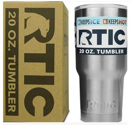 Wholesale DHL free RTIC Cups Tumbler Cups Car Cups Stainless Steel Sharp as YT Mugs oz oz Cooler Bilayer Insulation Water Bottles Mugs