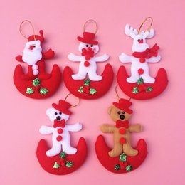 Wholesale Cool Gifts Christmas Santa Claus pendant fabric pendant corporate gifts Santa gifts for women JF