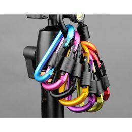 Wholesale 2017 Outdoor CM D ring Aluminium locking Carabiner Key Clip Hanging Hook Backpacking Buckle