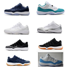 Heiress 11s Low PRM HC Frost White Blue Moon basketball shoes for Men and women barcons outdoor athletic sneaker University Blue Navy Gum
