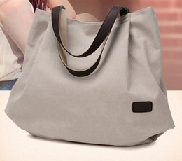 Single shoulder canvas fashion shopping bag whole sale big volume koren style handbag for women girl