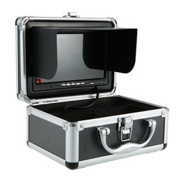 Wholesale New HD TVL Degree Wide Angle LED Fishing Camera Fishfinder Color Digital LCD Fish Finder M M Cable EU US Plug