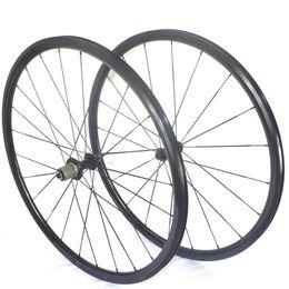 Wholesale Super light C road bike alloy wheelset mm depth mm width bicyle wheels highend bike weels black andonized brake track