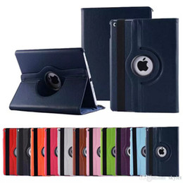 Mélanger le cas de mode en Ligne-Pour Apple iPad mini 2 3 4 Case Lichee Pattern Case Fashion 360 degrés Rotation PU Leather Stand Cases
