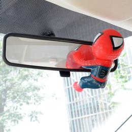 Descuento coche espejo decorativo Venta al por mayor-Cute coche espejo parabrisas Spiderman muñeca de succión Cups juguete decorativo apto para A3 X5 VW ect.