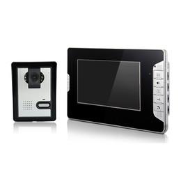 Noche carcasa de la cámara de visión en Línea-XSL-V70E-L teléfono video atado con alambre de la pantalla 7 pulgadas de la pantalla del color para la cámara infrarroja de la visión nocturna del chalet para la casa privada