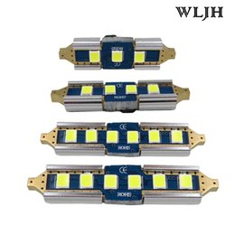 WLJH Canbus No Error 12v 24v Led Bulb 31mm 36mm 39mm 41mm 3030 SMD DE3175 SV8.5 211 Interior External Light