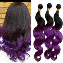 Ombre purple hair color samples ombre purple hair color samples 3bundles ombre purple hair ombre hair extensions two tone hair weaves 300g pack pmusecretfo Images