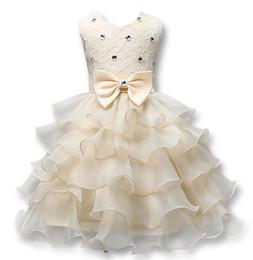 Acheter en ligne Nouvelles robes de filles de noël-NOUVEAU été Noël mignonne fleur bowtie filles robe de fille robe sans manches Princesse Robes Girl Costume Enfants filles robe de mariée 837