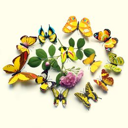 Wall Stickers Simulation 3D Butterfly Refrigerator magnet Can decoration, landscaping, with gifts. Highly ornamental.