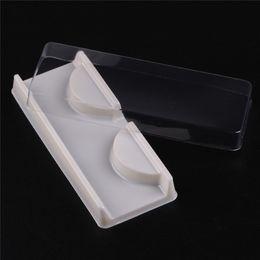 Wholesale Eyelashes packing box blank eyelashes packaging transparent lid beige pink eye lashes tray wholesales sets