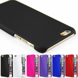 Caoutchouc pression en Ligne-Pour iPhone 7 6 Plus Slim Caoutchouc PC Hard Back Case Snap sur Ultra Thin Cover Pour iphone6 5 7plus 6Plus