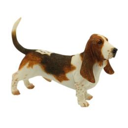 Compra Online Soportar pulgadas-Basset Hound Dog Figurine - Standing Puppy Sculpture 6 pulgadas Basset Hound Dog Estatua para los amantes del perro