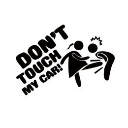 Car Styling For Don't Touch My Car Lady Edition Funny Cartoon Personality Vinyl Decal Cool Graphics