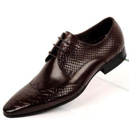 2017 los hombres hechos a mano de los zapatos oxford Nuevo cuero genuino hecho a mano italiano punteó el dedo del pie Snakeskin ata para arriba los zapatos de vestido de los hombres de Oxford Zapatos de la boda del partido de tarde de los hombres Extra más tamaño los hombres hechos a mano de los zapatos oxford outlet
