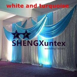 10ft*20ft Wedding Backdrop Curtain Stage Background Include The Sequin Drape Free Shipping