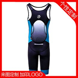 Wholesale Processing custom iron three coveralls wicking diving Triathlon clothing apparel